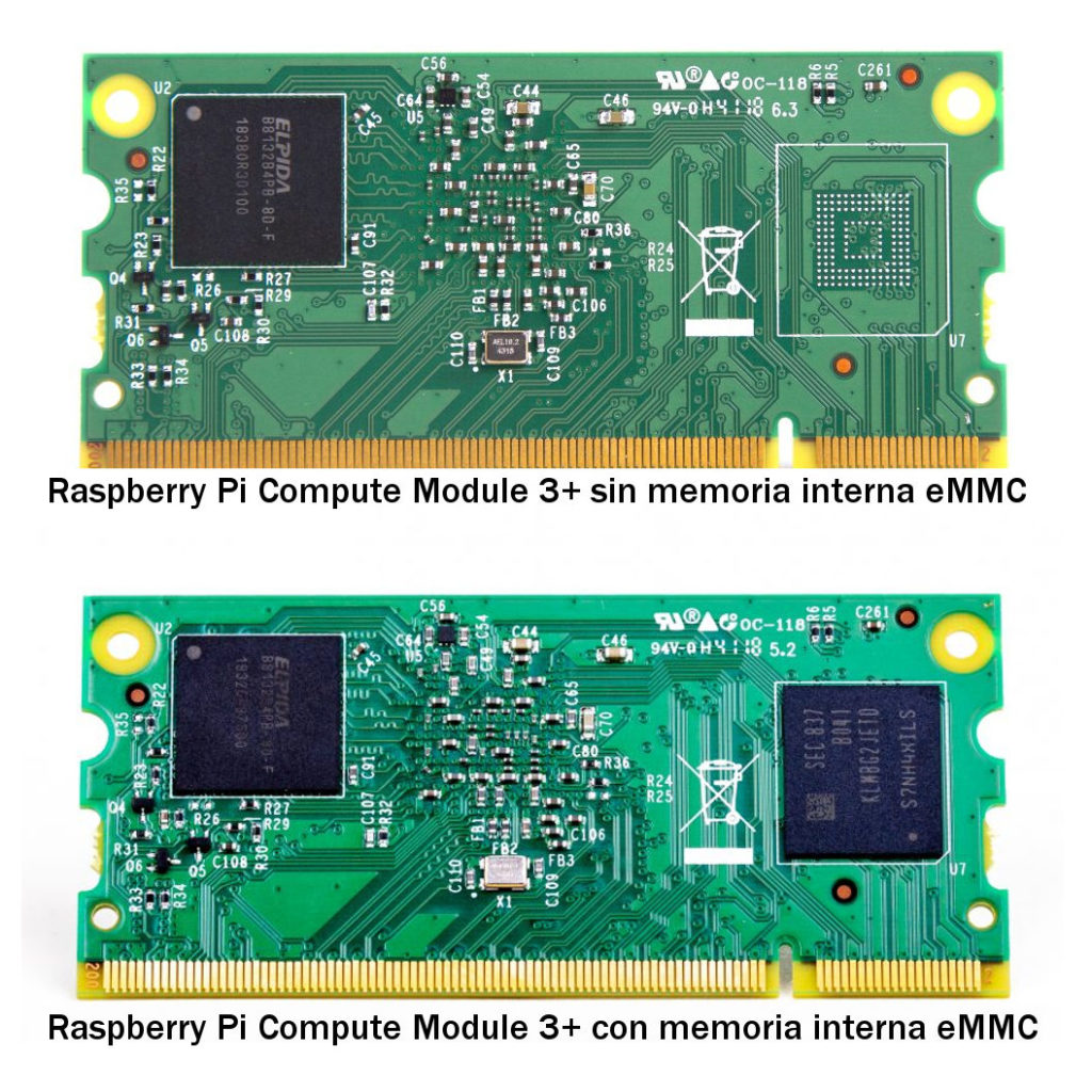 raspberry-pi-CM-3+ lite vs emmc